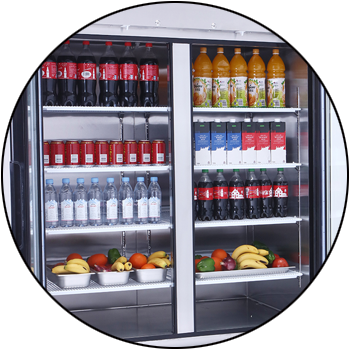 picture of full-size, reach-in commercial restaurant refrigerator