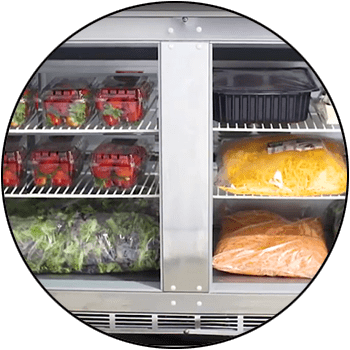 picture of undercounter reach-in commercial restaurant refrigerator